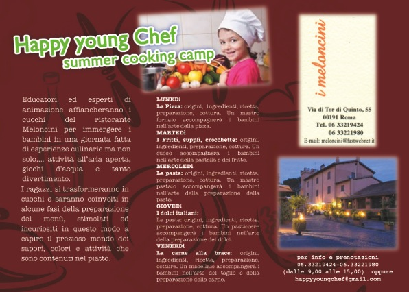 Summer Cooking Camp 2014 HYC presso il ristorante Meloncini di Roma - Viale Tor di Quinto, 55.