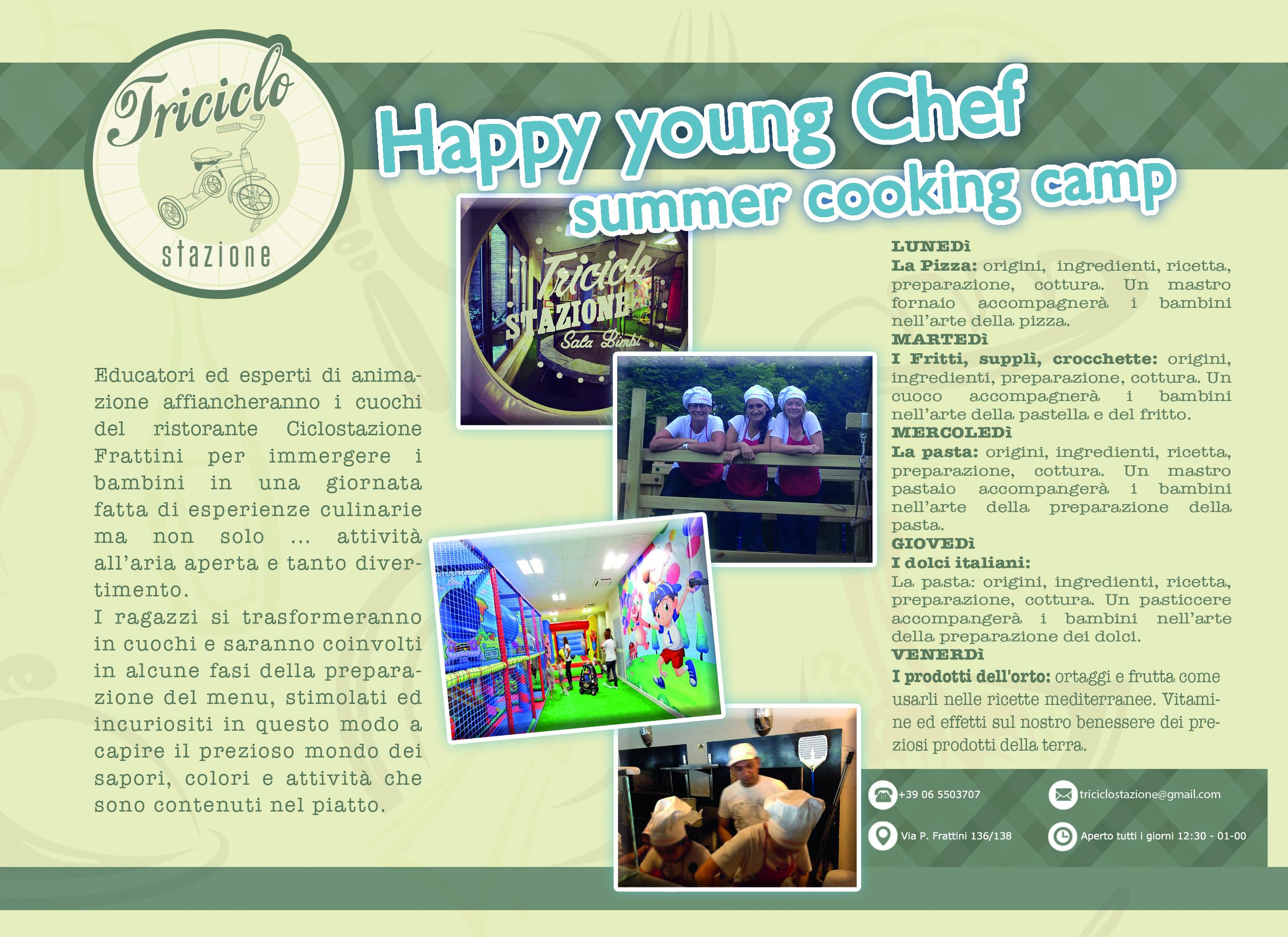 Summer Cooking Camp 2015 HYC presso il ristorante Ciclostazione Frattini di Roma - Via Pietro Frattini 136/138  triciclostazione@gmail.com